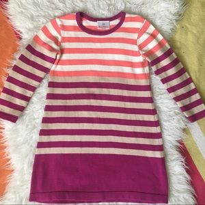 Hanna Stripe Knit Sweater Dress 110